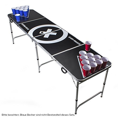beer pong tisch set festival. Black Bedroom Furniture Sets. Home Design Ideas