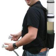 Festival Gadgets Bierrucksack Getränkerucksack 2 x 3 Liter Seitenansicht