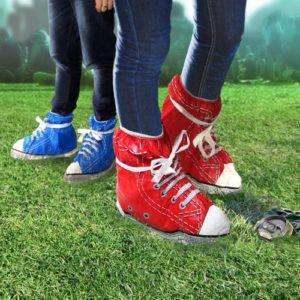 Schuhüberzieher für Festival im Converse Chuck Style
