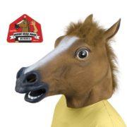 Festival Gadgets Pferde Maske Pferdemaske aufgesetzt