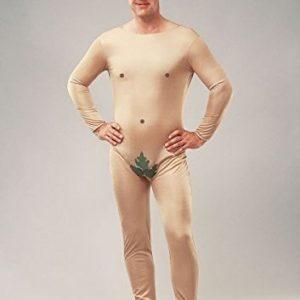 Adam Kostüm bestehend aus hautfarbenem Ganzkörperanzug