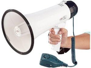 Megaphon mit abnehmbarem Mikrofon