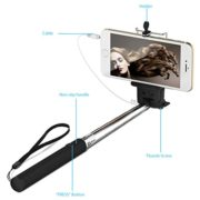 Batterieloser Selfie Stick mit Halterung für Smartphone