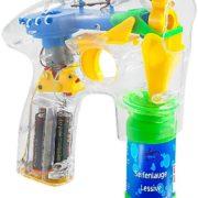 Festival Gadgets Seifenblasenpistole mit LEDs inkl. 2x Seifenblasenlösung