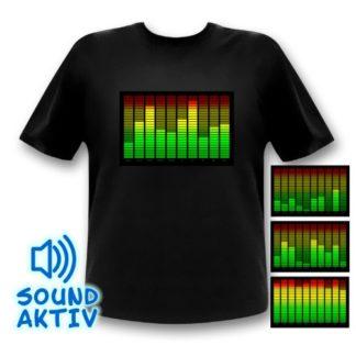 10-Kanal LED Equalizer T-Shirt Gadget für Festivals