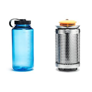 Biolite Campingkocher und USB Ladegerät Größenvergleich