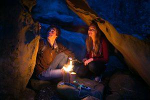 Biolite Campingkocher und USB Ladegerät als Feuerstelle