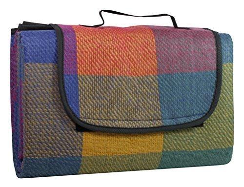 Picknickdecke mit wasserabweisender Rückseite, ca. 130 x 170 cm, kariert
