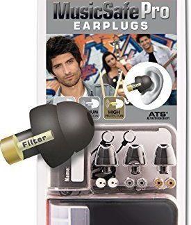 Schwarz Alpine Music Safe Pro Gehörschutz Set mit 3 austauschbaren Filtern