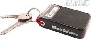 Schlüsselanhänger Box Alpine Music Safe Pro Gehörschutz Set mit 3 austauschbaren Filtern