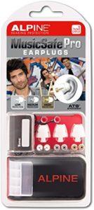 Weiß Alpine Music Safe Pro Gehörschutz Set mit 3 austauschbaren Filtern